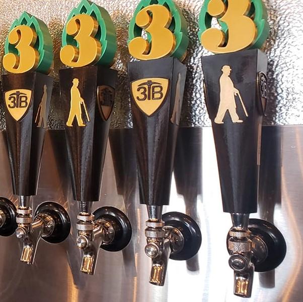 3 trails brewing custom tap handles