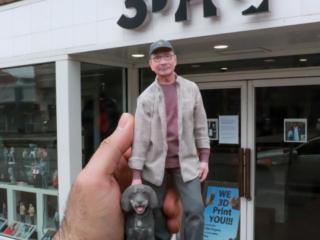 3d figurine dog owner 3dhq